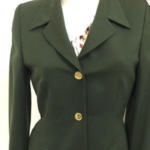 ESCADA Margaretha Ley Olive Green Blazer size 36